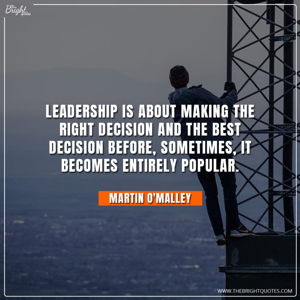 change in leadership quotes
