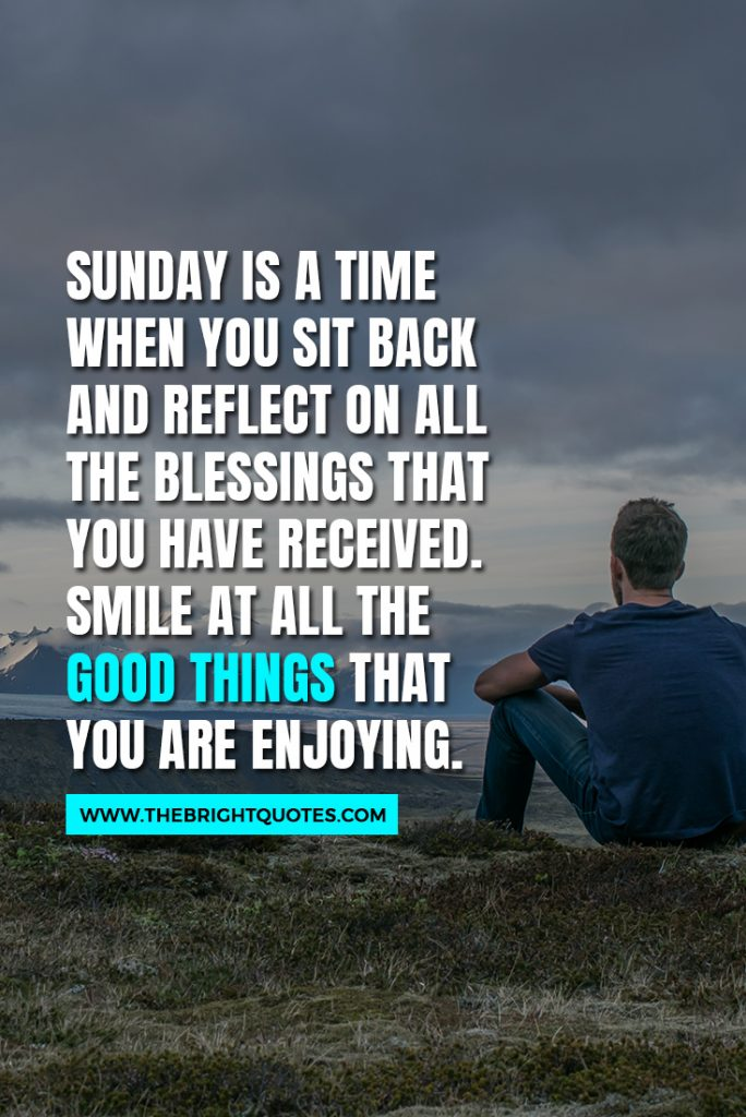 Sunday blessed quotes