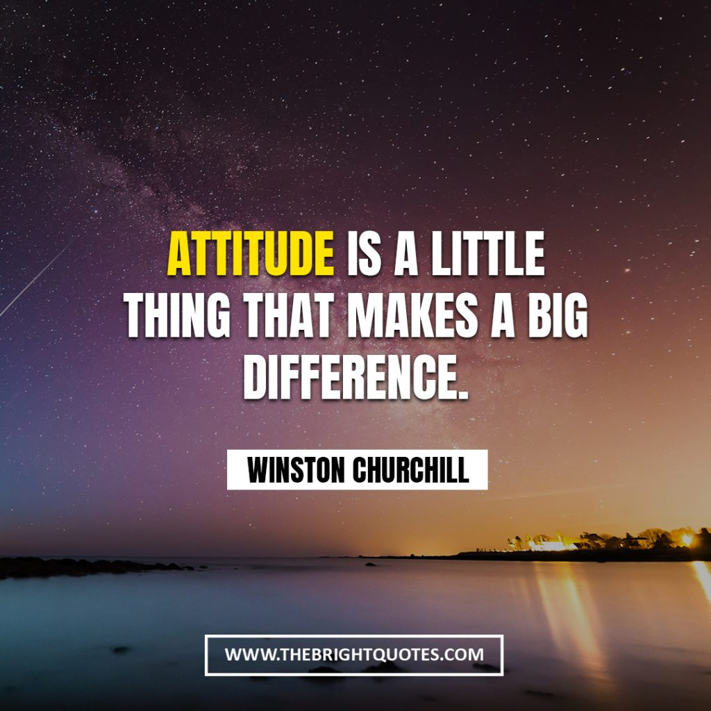 Winston Churchill quote about attitude