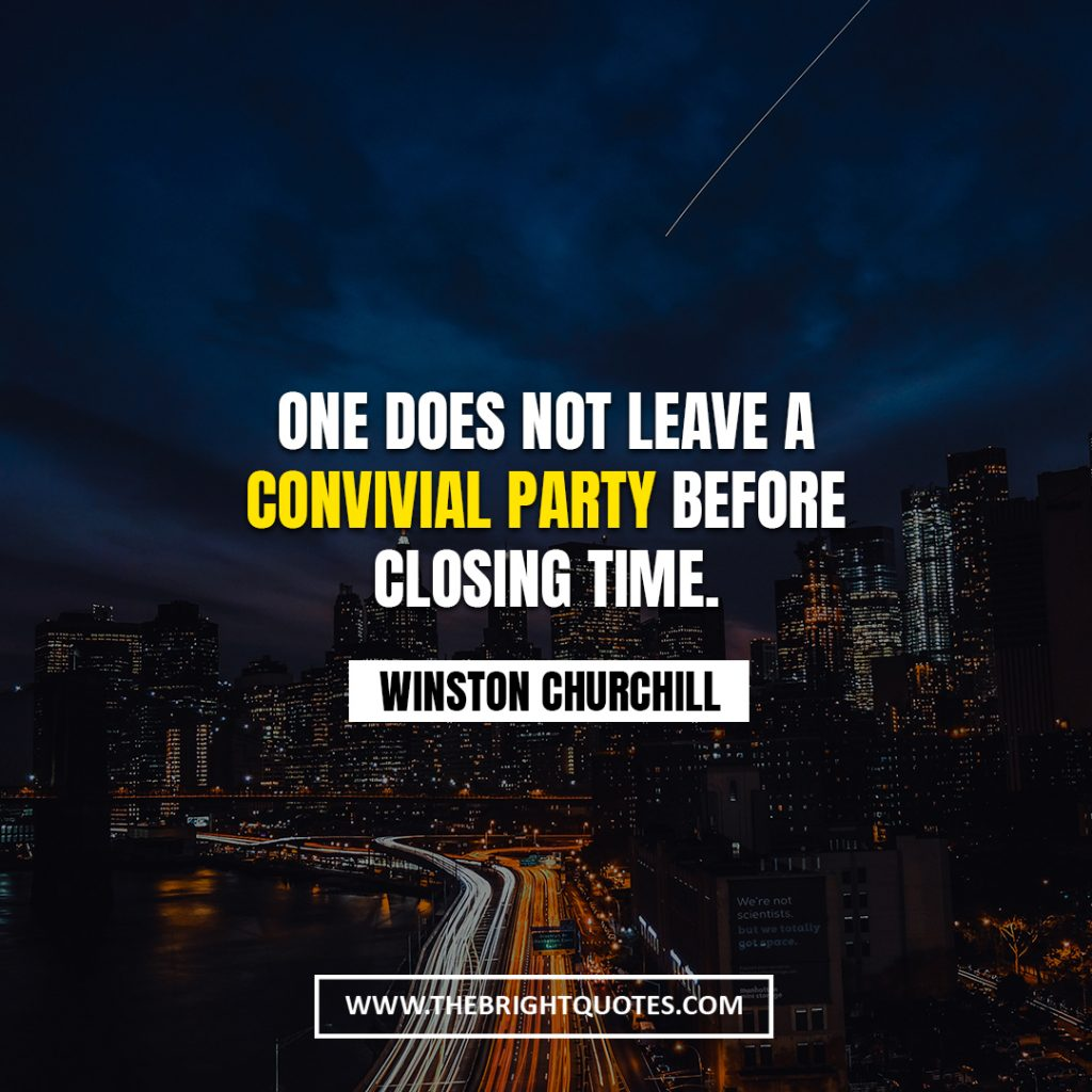 Winston Churchill quote about time