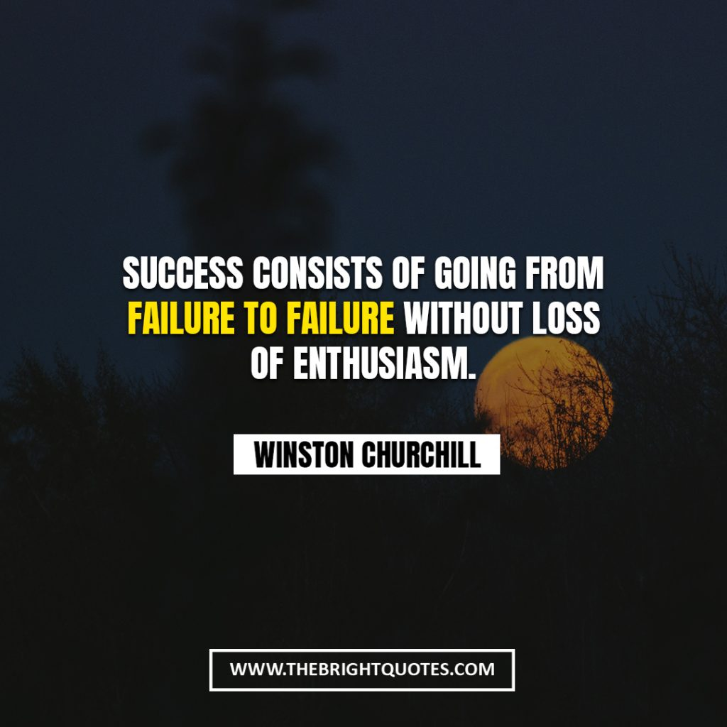 Winston Churchill quote about failure