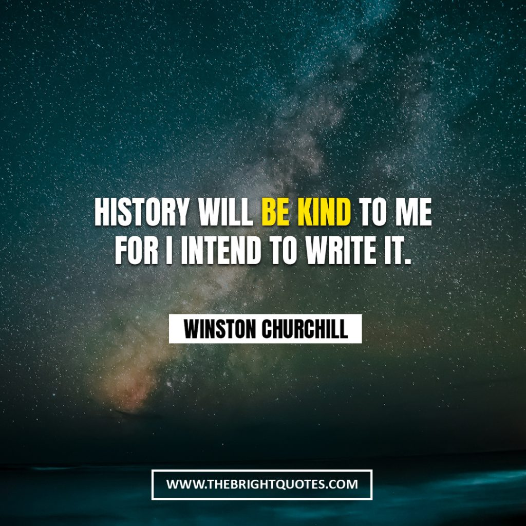 Winston Churchill quote about history