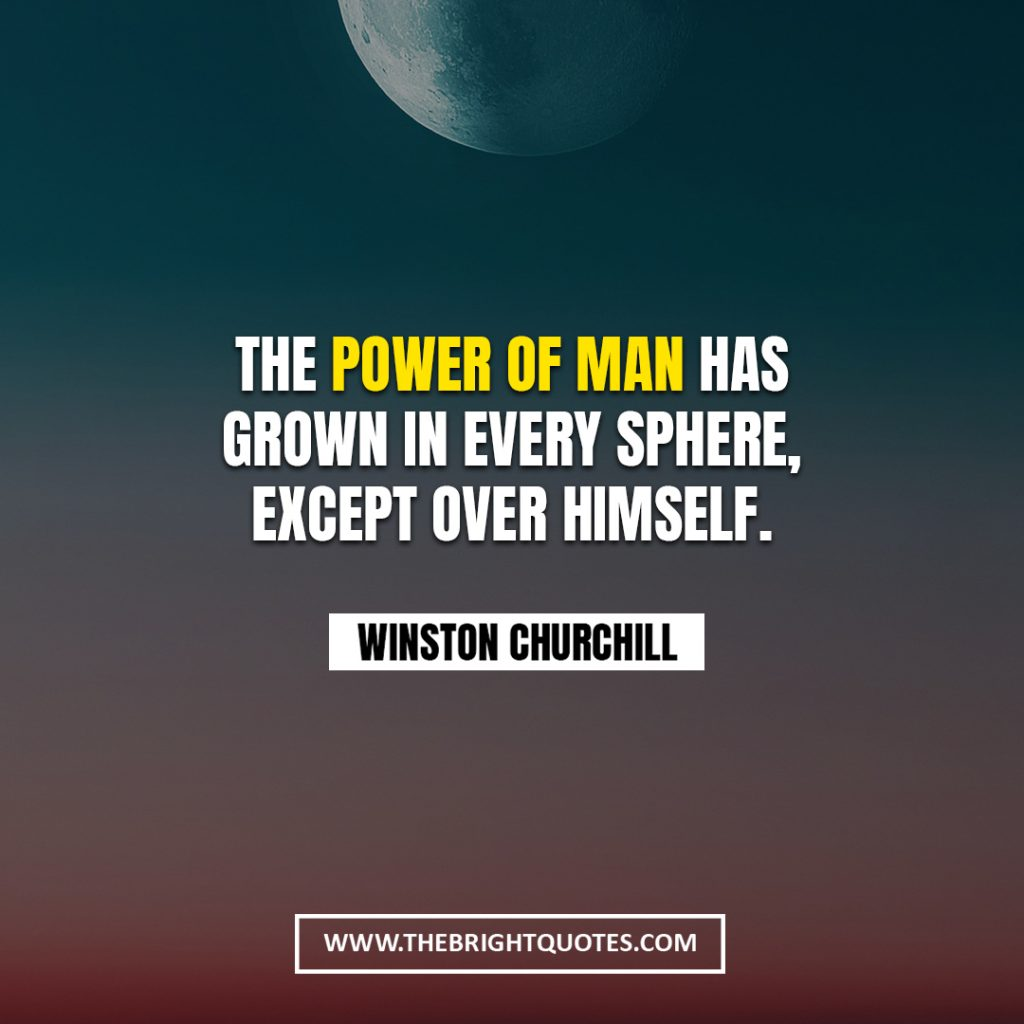 Winston Churchill quote about power