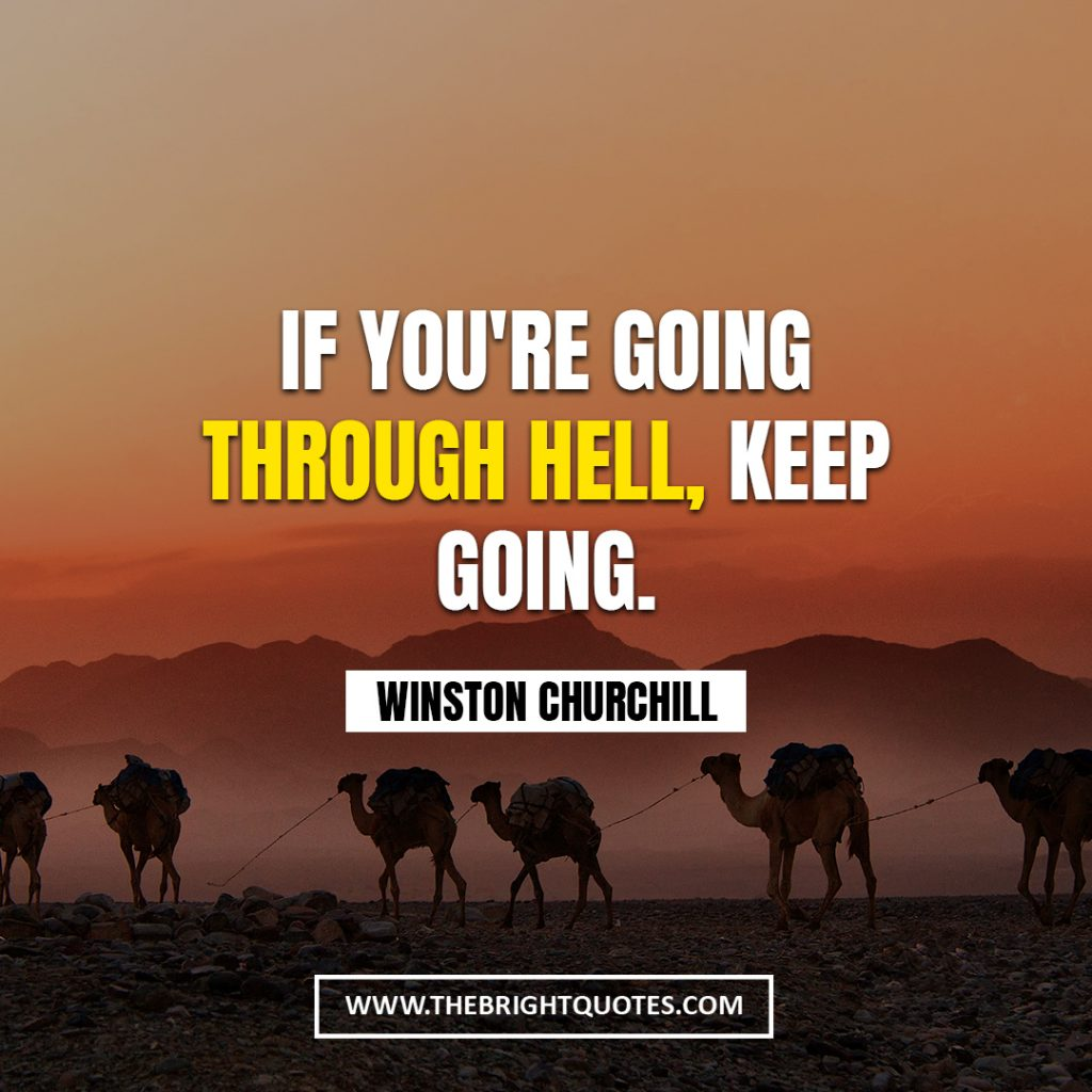 Winston Churchill motivational quote about life