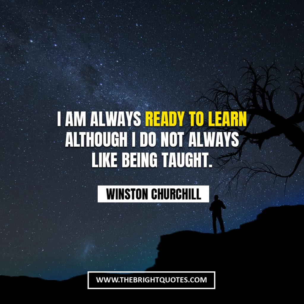 Winston Churchill quote about learning