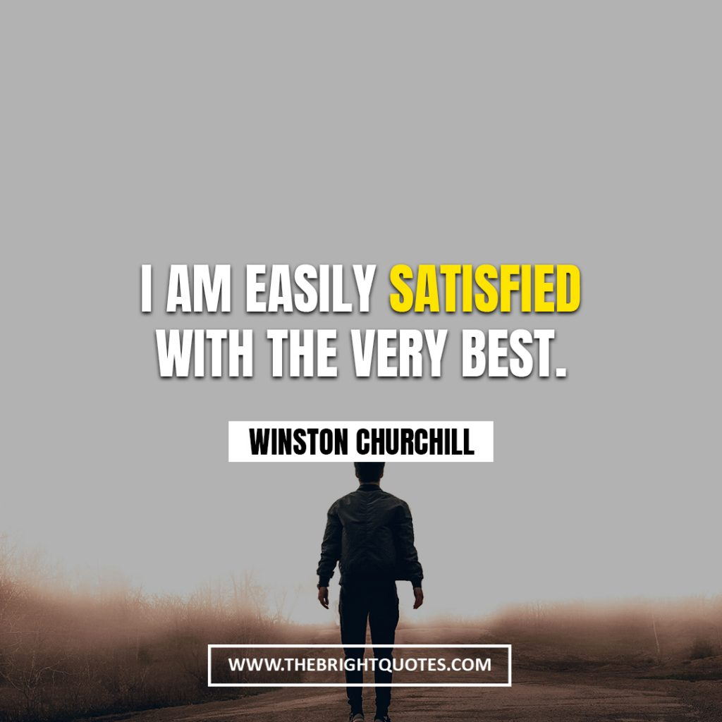 Winston Churchill quote about best