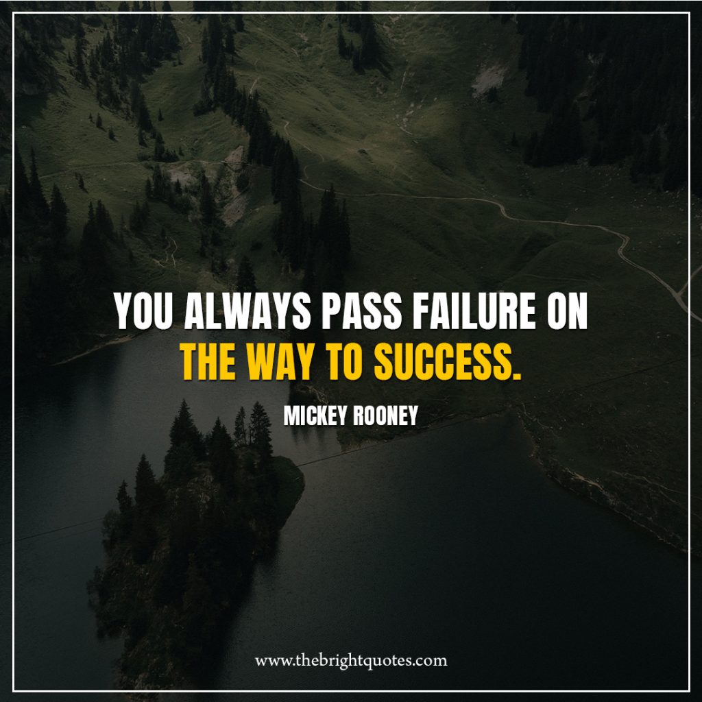 2 Quote of the day You always pass failure on the way to success