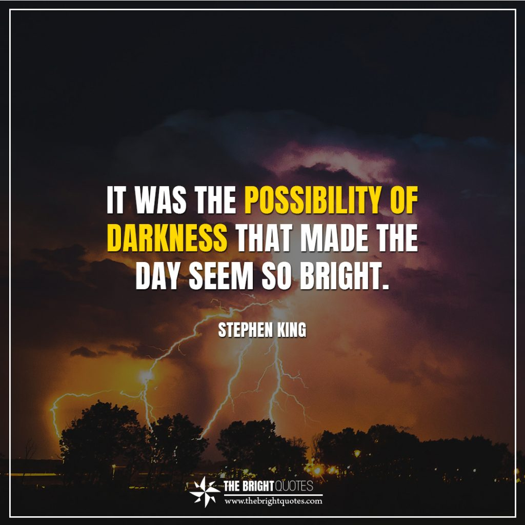 Stephen King - bright quotes it was the possibility of darkness