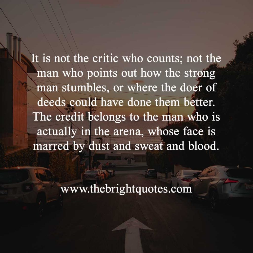 man in the arena quote