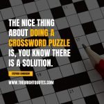 uplifting things crossword the nice thing about doing a crossroad puzzle is you know the answer