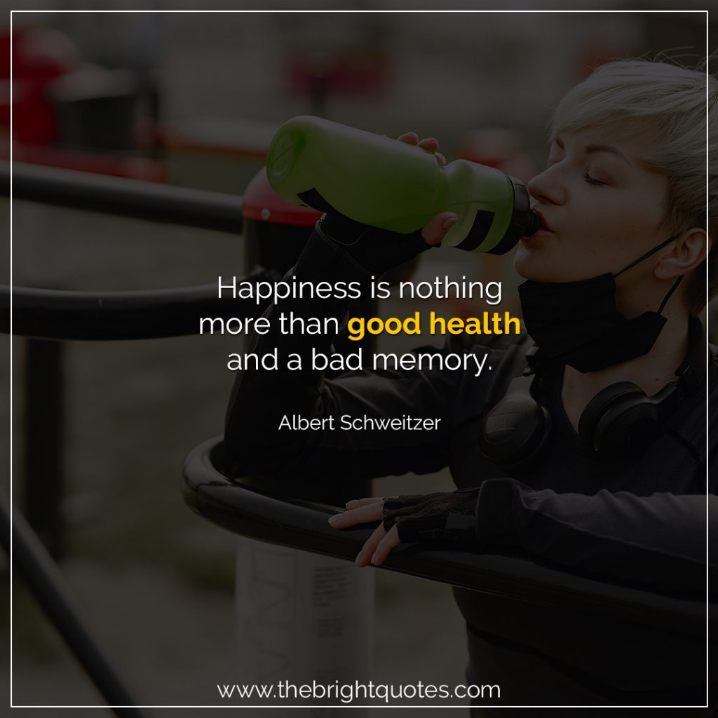 quotes on health by famous personalities