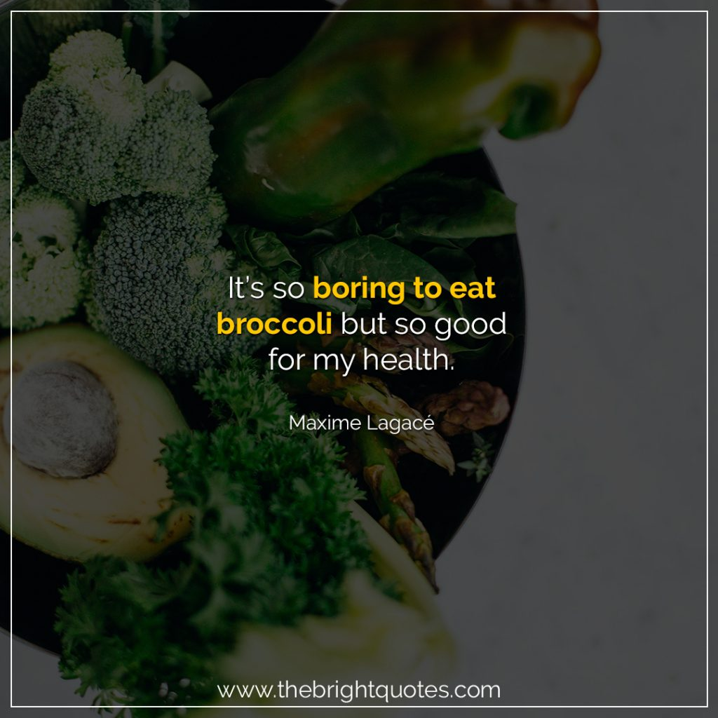 healthy food quotes for instagram