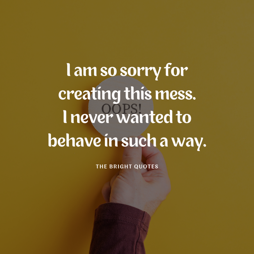 Short Sorry Quotes & Captions