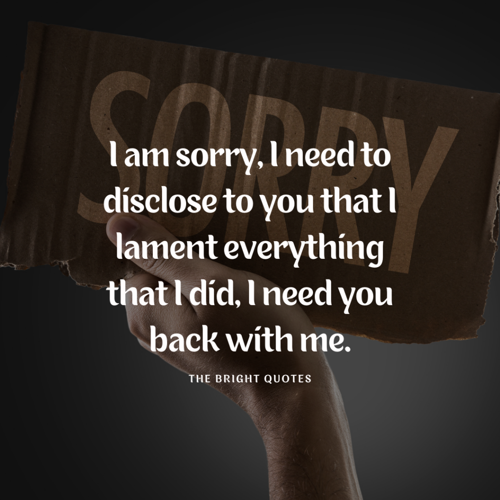 Emotional Sorry Quotes For Girlfriend