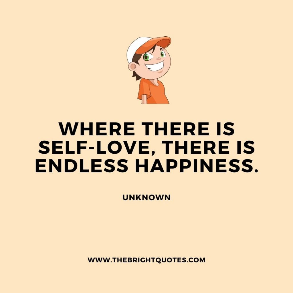 where there is self-love there is happiness
