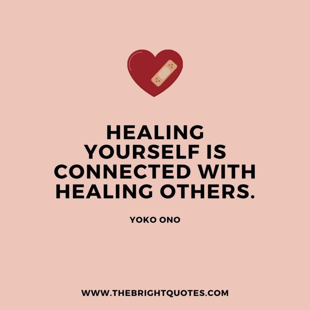 healing yourself is connected with others