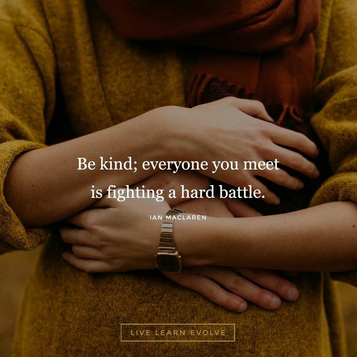 A quote to be kind