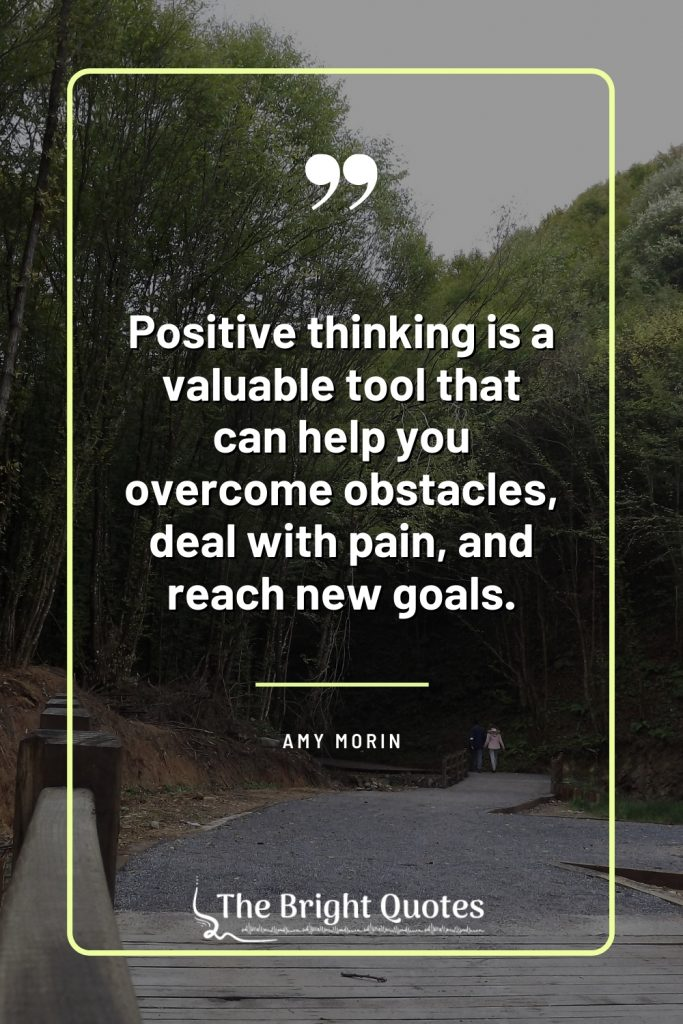 think positive be positive quote