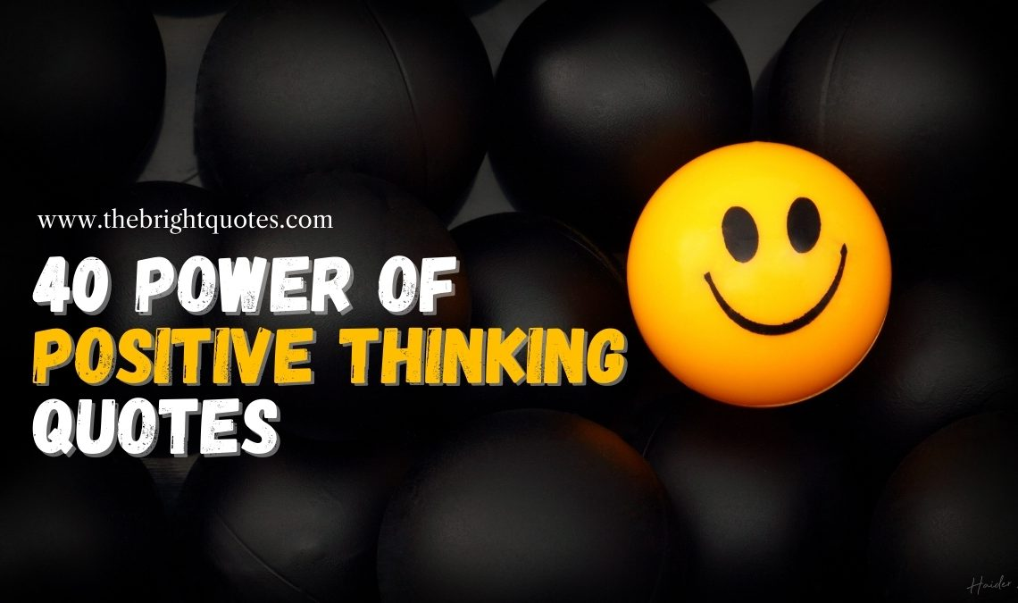 power of positive thinking quotes featured image