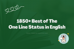 1850+ Best of The One Line Status in English featured image