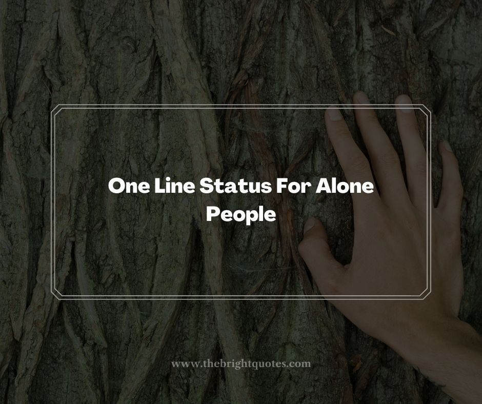 One Line Status For Alone People