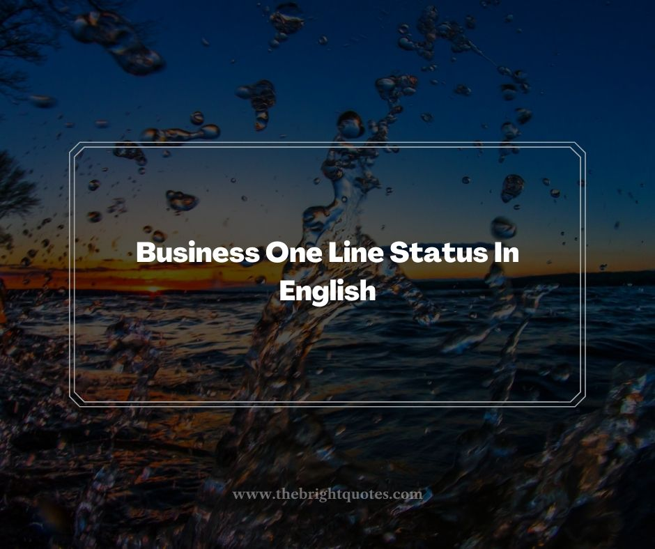 Business One Line Status In English