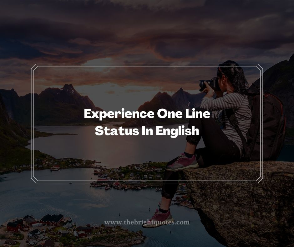 Experience One Line Status In English
