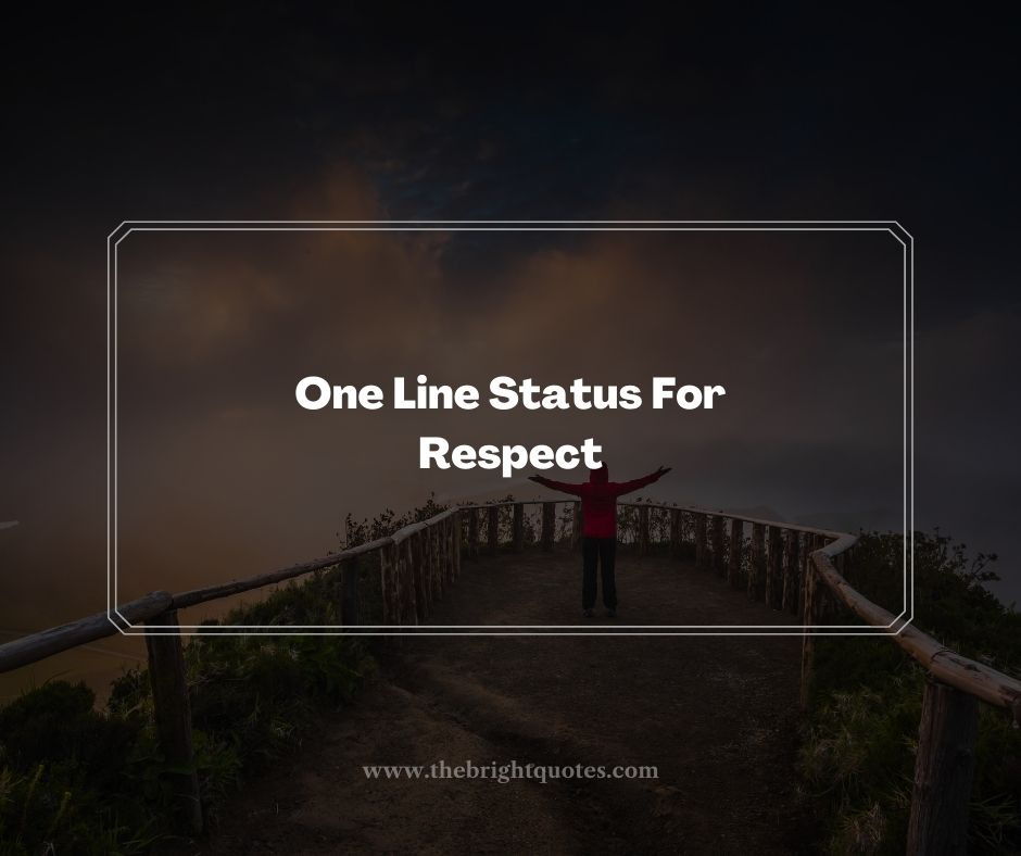 One Line Status For Respect
