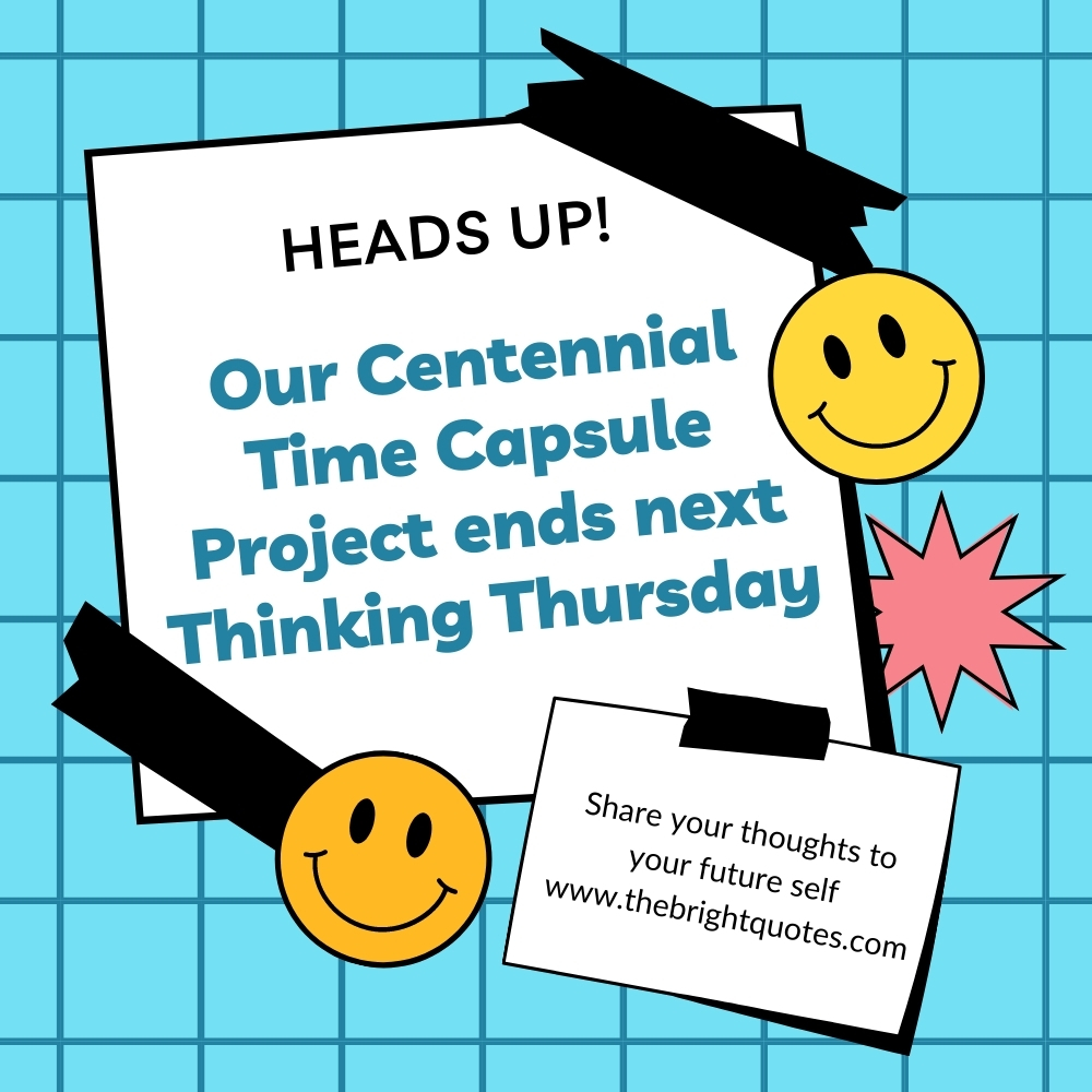 Blue Simple Lined Thinking Thursday Wellness Social and Emotional Learning Classroom Announcement