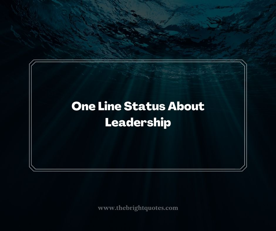 One Line Status About Leadership
