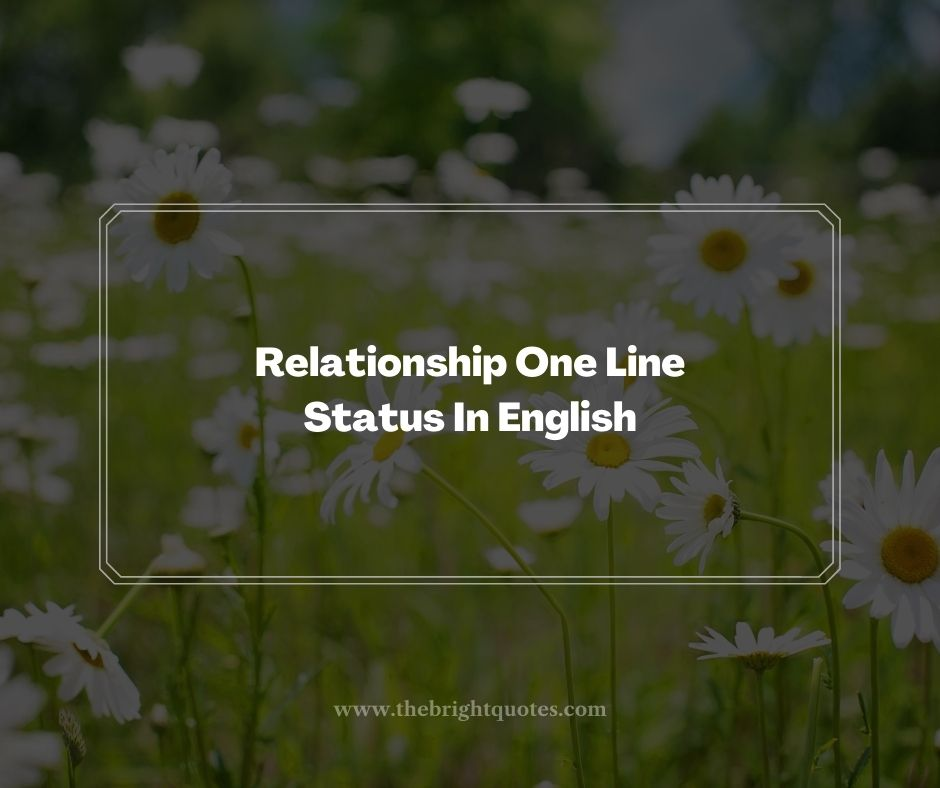 Relationship One Line Status In English