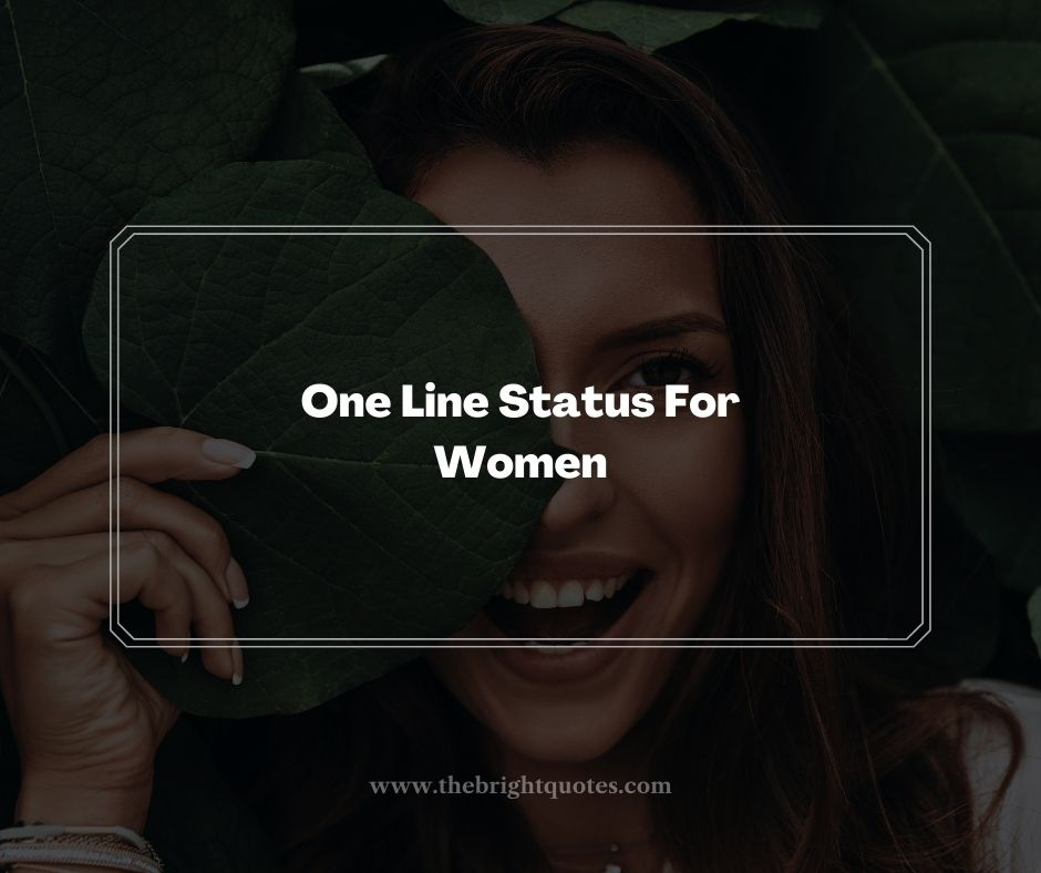 One Line Status For Women