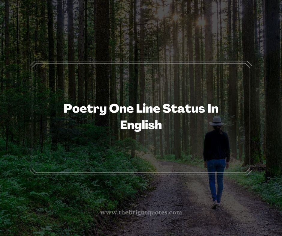 Poetry One Line Status In English