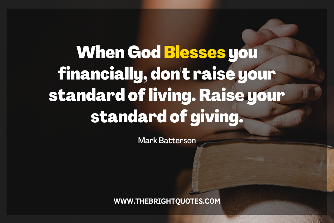 When God Blesses you financially, don't raise your standard of living featured image