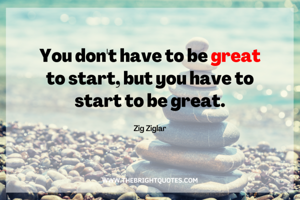 You don't have to be great to start featured image