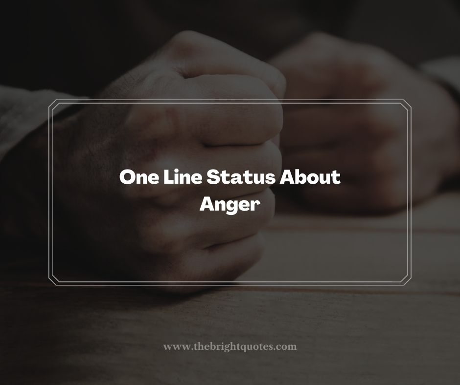 One Line Status About Anger