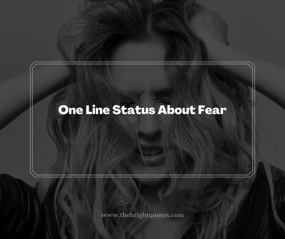One Line Status About Fear